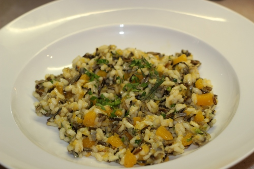 Risotto, wild rice, butternut squash
