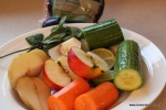 Cucumber apple pear carrot mint