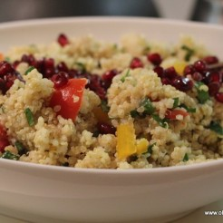 Quinoa Salad with Pomegranate and a zingy dressing