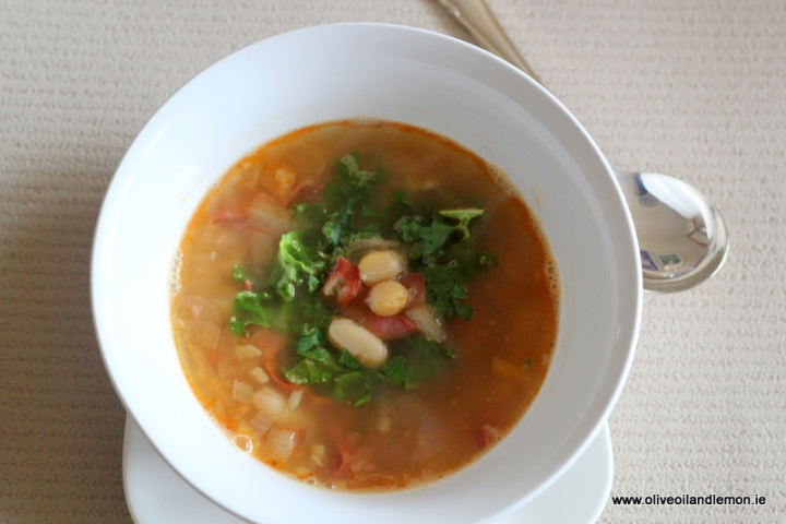 Healthy bowl of soup