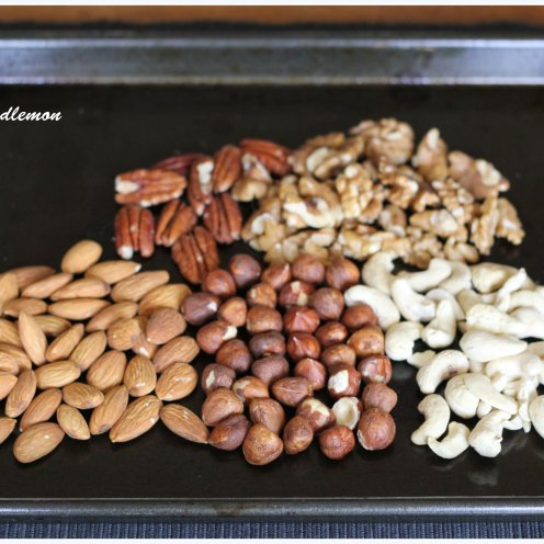 Roasting Tray of Nuts