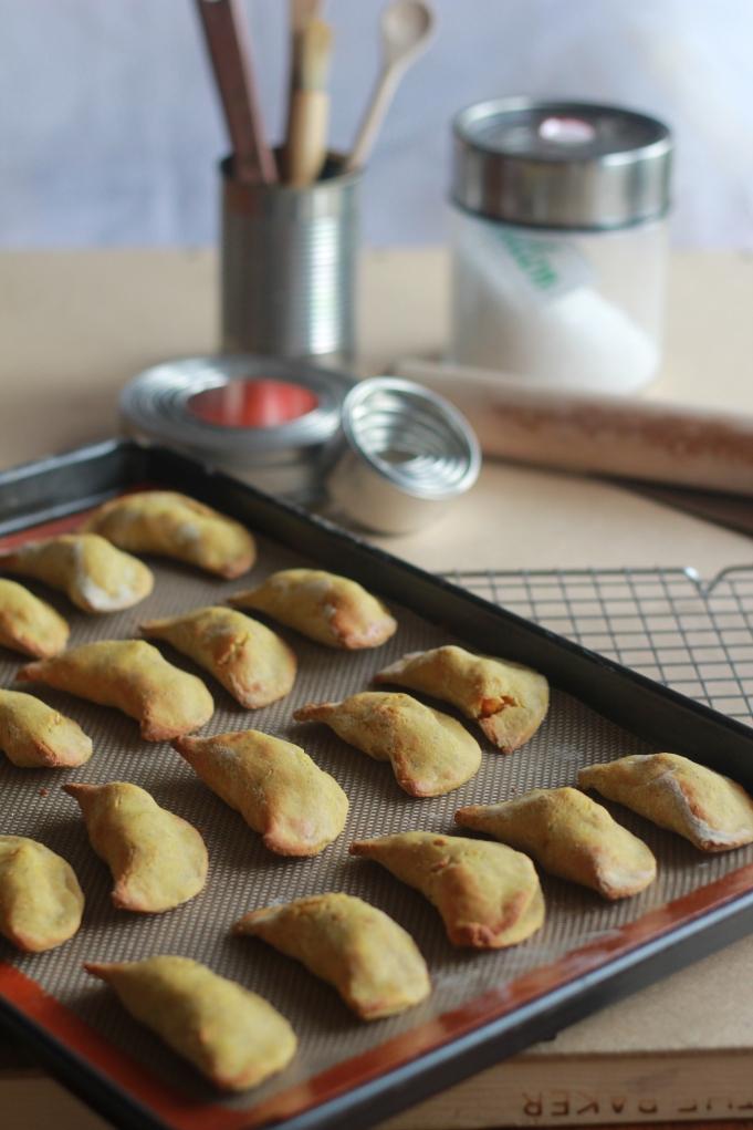 Indian Sweet Potato Crescents
