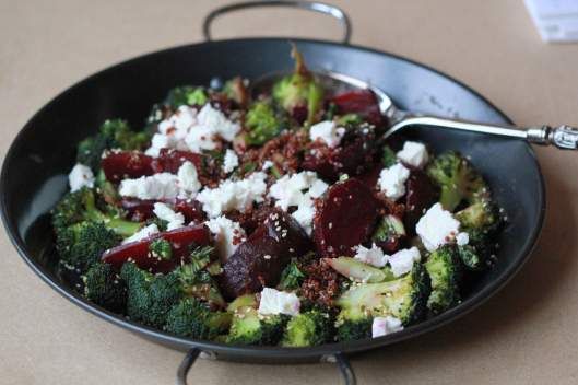 Dish of Beetroot Broccoli Salad