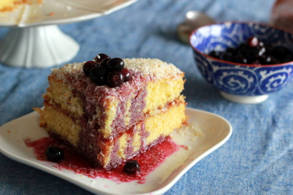 OO&L Coconut Blueberry Cake